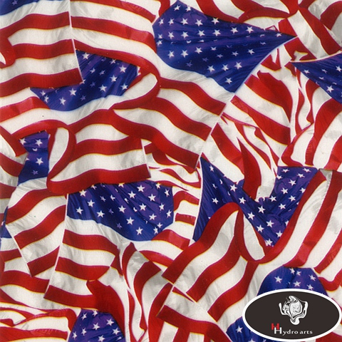 High quality Star-Spangled Banner US Flag Design Aqua Print Film Hydrographic Film Water Transfer Printing Film HFY-992 0.5M*10M