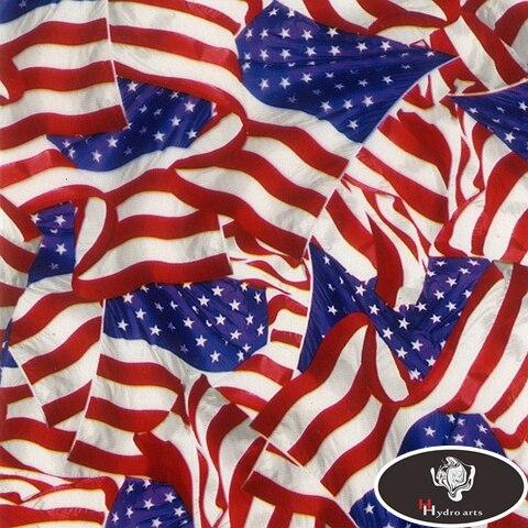 Star-Spangled Banner EUA do Projeto Da Bandeira de alta qualidade Do Aqua Impressão Filme Hidrográfica Film Transferência De Água Impressão Film HFY-992 0.5 M * 10 M