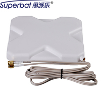 Superbat 698 960/1710 2690MHZ 4G LTE Antenna 35db Antenna Booster Double SMA Aerial Male Plug Connector for Huawei ZET USB Modem