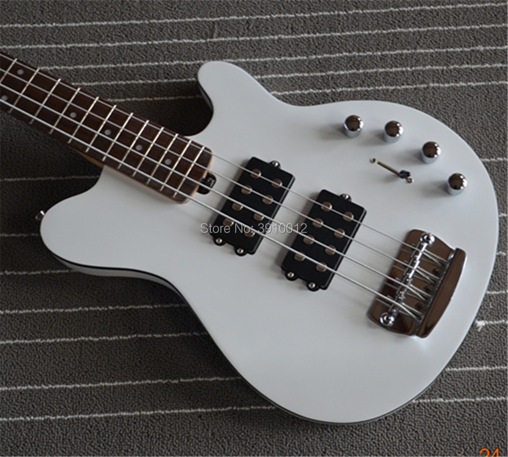 2018 NEW Custom High Quality Music Man bass guitar 4 String Reflex Ernie ball Electric Guitar In Glossy White,Free shipping