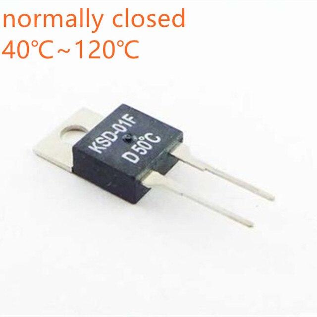 10PCS KSD 01F Temperature Control Switch Sensor 40 45 50 55 60 65 70