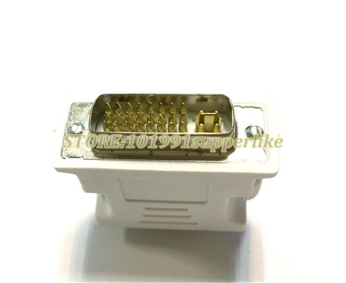 Free Shipping 10PCS DVI 24Pin+5Pin Male Convert to 15Pin VGA Female Adapter Converter for PC HDTV for Video Card