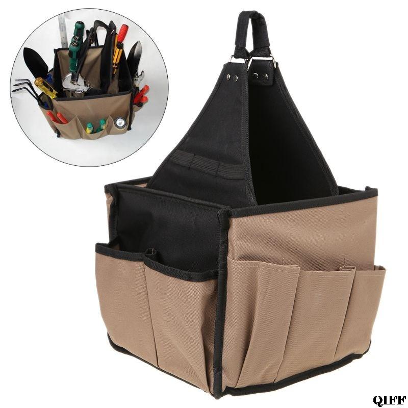 Men Multi-Pocket Tool Bag Utility Pouch Electricians Hanging Bucket Hardware Belt Gardening Tools Storage OrganizerJun18