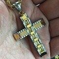 HOt Punk rock nueva moda colgante cruzado de JESÚS collares de cuerda cadenas para los hombres de las mujeres collar de la joyería de Hip Hop del día de san valentín regalos