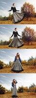 s0065-1 женщины в богема стиль шерсть длинная юбка