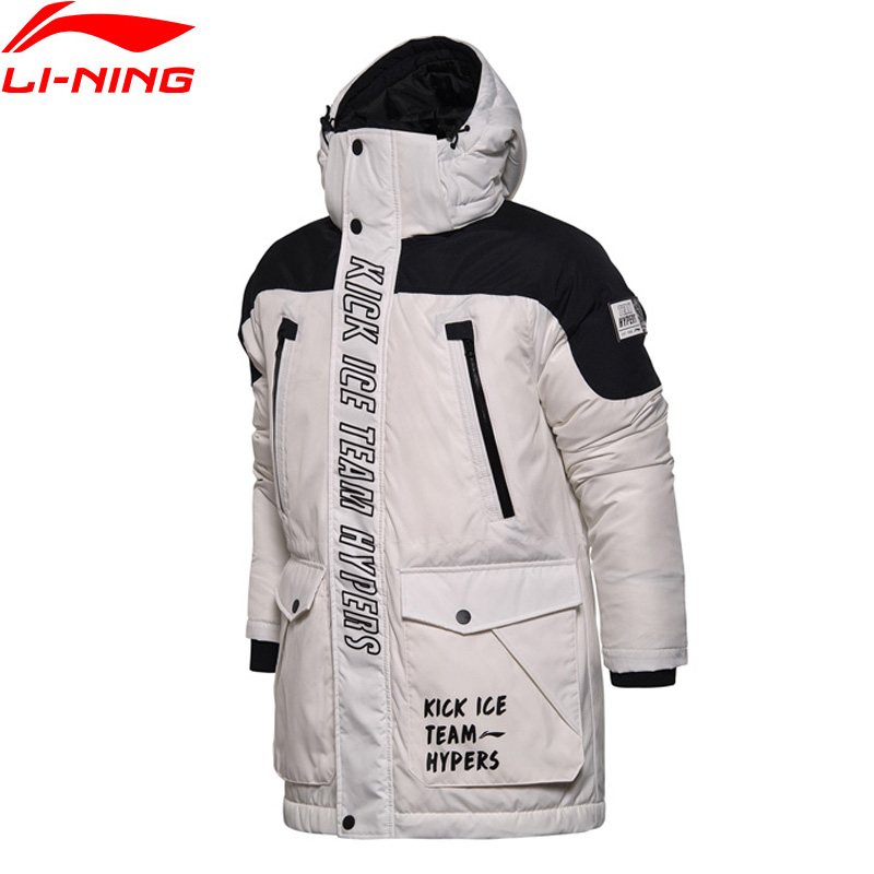 Li-Ning Men The Trend Series Down Jacket Regular Fit Windproof Warm LiNing Winter Sports Jackets Sport Coat AYMM081 MWY294 li ning men wade short down jacket at proof wind comfort lining winter jackets aymm183 mwy267