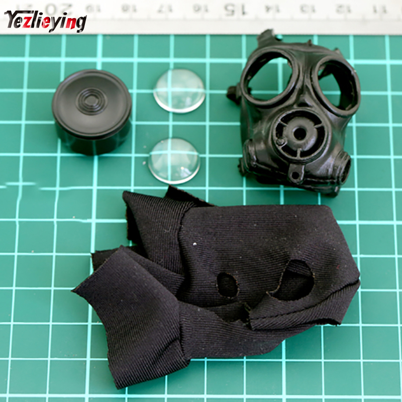 1/6 Scale Accessories Military Soldier Black Sas Gas Mask Set Model Swat Fit 12 Inch Action Figure Doll Toys A Plastic Case Is Compartmentalized For Safe Storage Action & Toy Figures