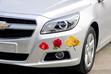 Colourfull Real Rose Flower Vinyl Decal Sticker Car Window Wall Laptop Plant Floral OCT-27