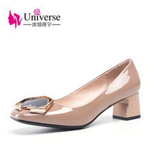 Universe chunky heel comfortable 2019 new spring women dress shoes  ladies J005
