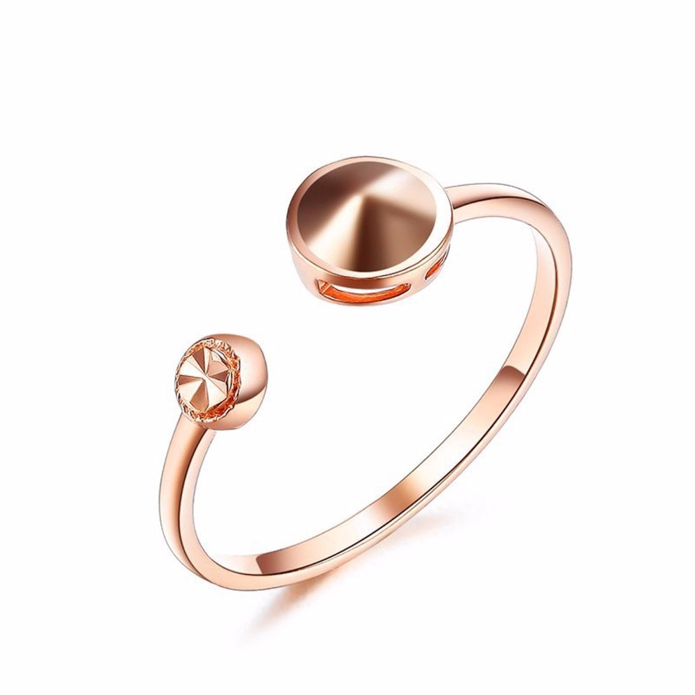 Pure Solid Au750 Rose Gold Ring Women's Unique Fashion Ring authentic au750 rose gold ring fashion number designer 520 ring 0 95g hot sale
