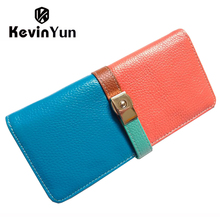 Luxury designer wallet patchwork genuine leather wallet long purse women wallets casual ladies clutch wallet for woman sac
