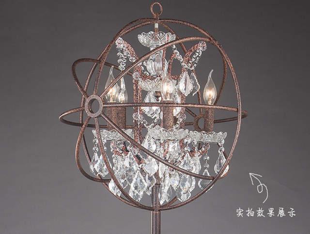 Moderne Design Lampen : Online shop moderne wrount iron globe crystal retro designer rh