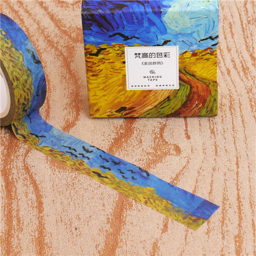 Washi Tapes DIY Van Gogh Painting Paper Tape Decorative Adhesive