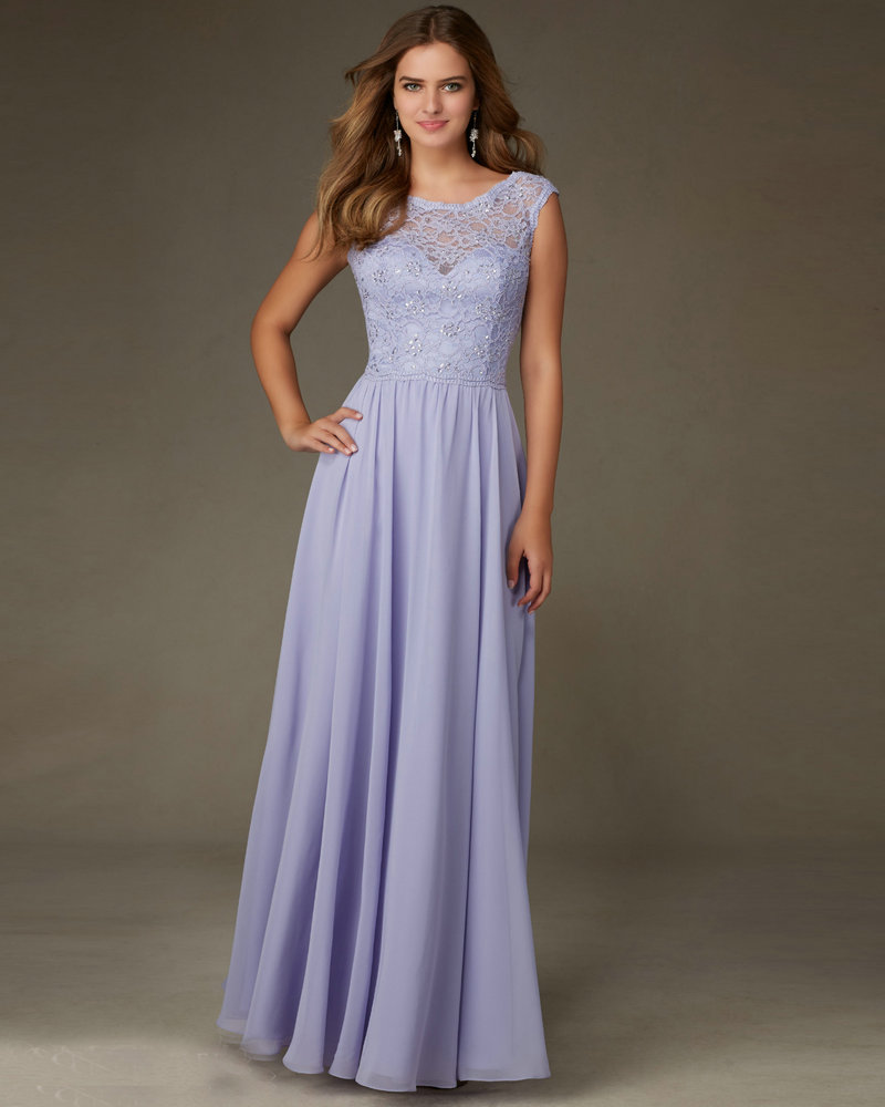 discount price 2019 professional largest selection of 2019 Style 125 Cheap Lavender Bridesmaid Dress Chiffon Long Party ...