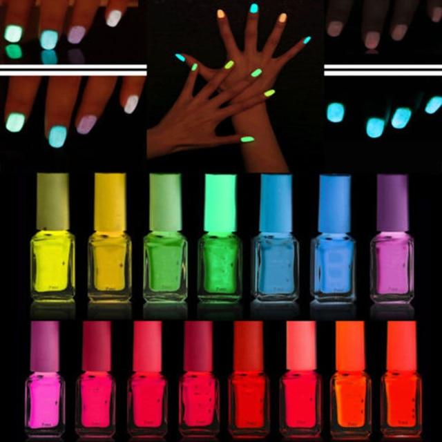 Aliexpress.com : Buy Fluorescent Neon Luminous Nail Polish Dark ...