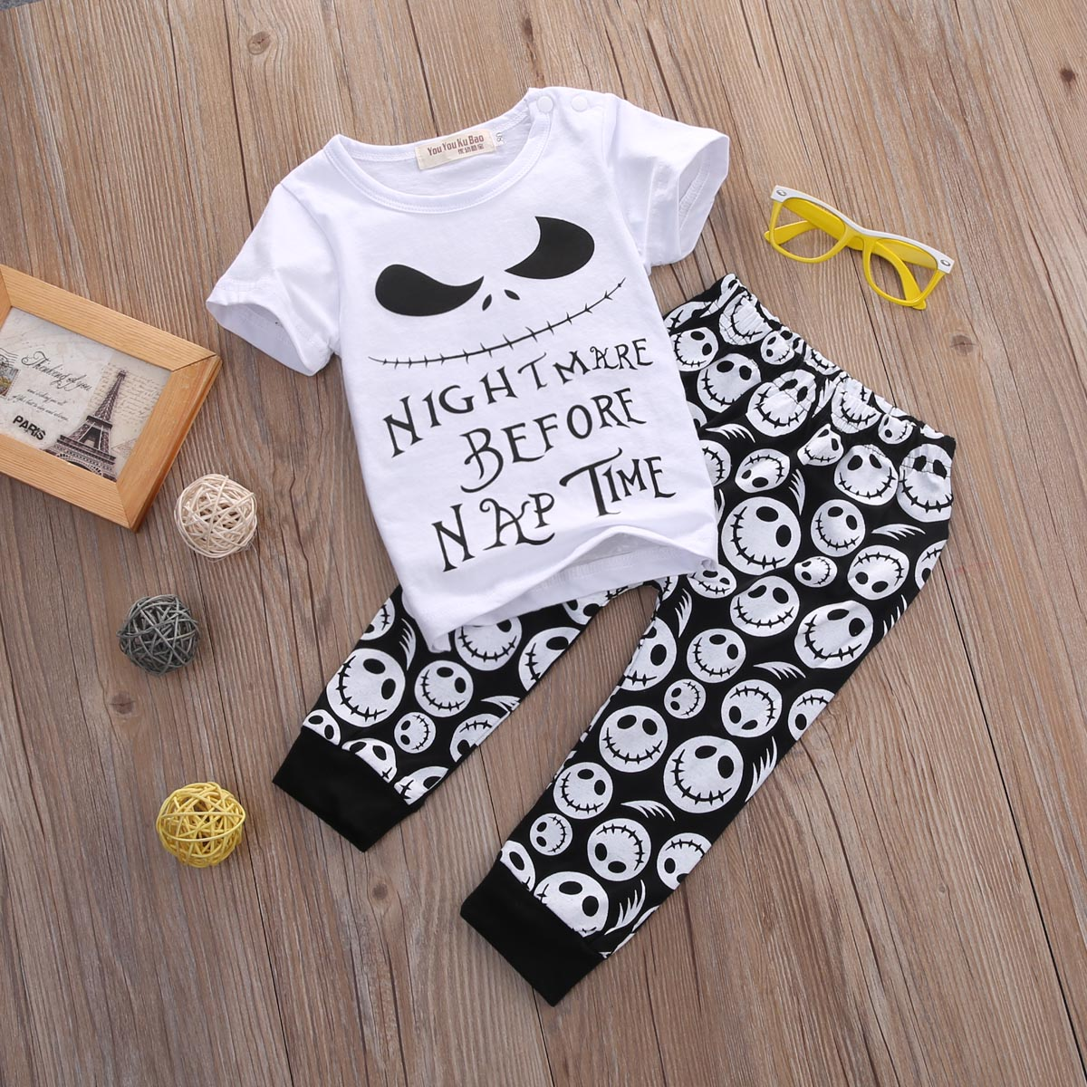 2PCSNew-Cartoon-Cotton-Halloween-Letter-Clothing-Set-Baby-Boy-Children-Kids-T-shirtPants-Toddler-boy-summer-Outfits-Clothes-1