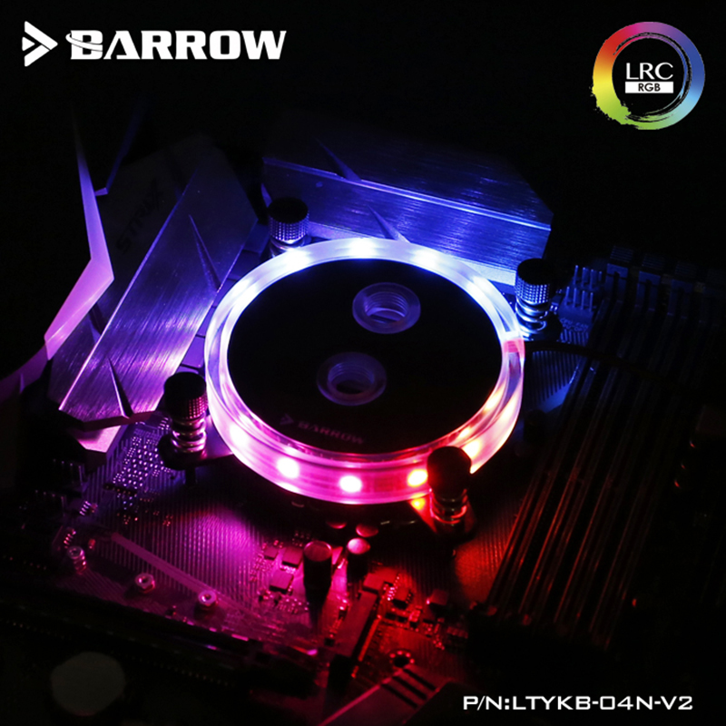 Barrow CPU Water Block use for Intel LGA 1150 1151 1155 1156 Socket Acrylic + Copper Radiator Block + 5V GND RGB Support AURA alloyseed computer water cooling waterblock cpu radiator cooler for intel lga 1150 1151 1155 1156