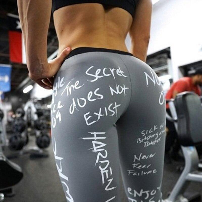 Женские спортивные Леггинсы с буквенным принтом Vertvie, брюки пуш-ап с высокой талией, женские спортивные Леггинсы для фитнеса и бега