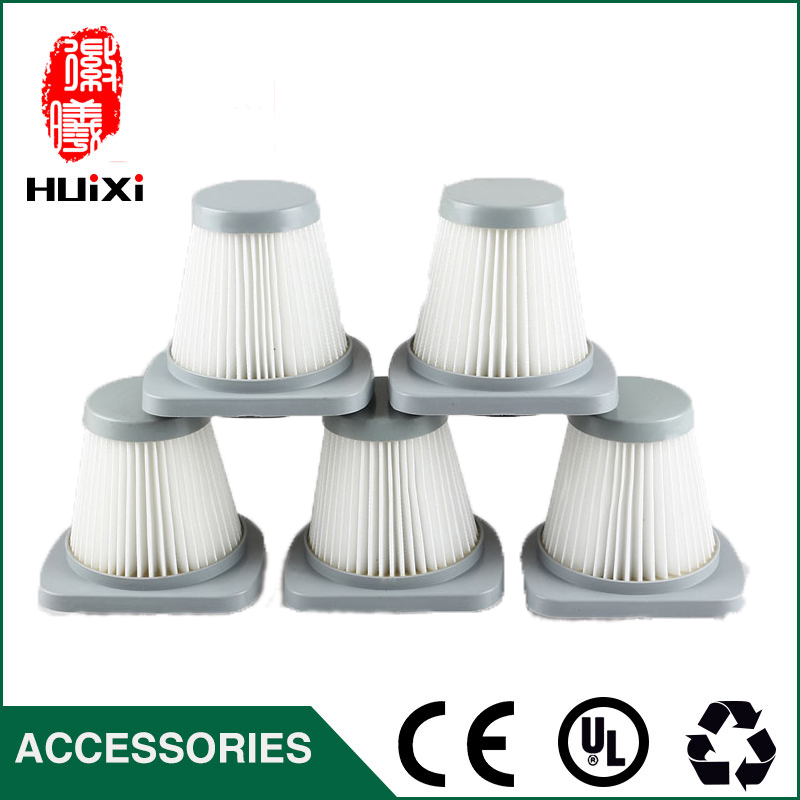 5 PCS 49*83mm size  White hepa air filter for vacuum cleaner accessories and parts of filter element SC861 SC861A 142 126mm size plastic and steel wire frame hepa filter and the original of hepa vacuum cleaner parts for gy308 15l gy309 18l