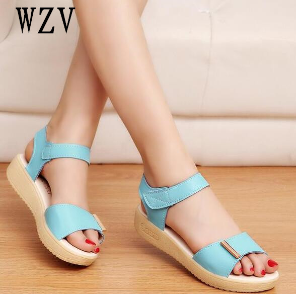 2018 Women Sandals Woman Summer Fashion flat sandals Flip Flops Ladies Shoes Sandalias Mujer White blue pink B211 summer style ankle tie flat sandals crosscriss rome boho gladiator sandals women flip flops casual shoes woman sandalias mujer
