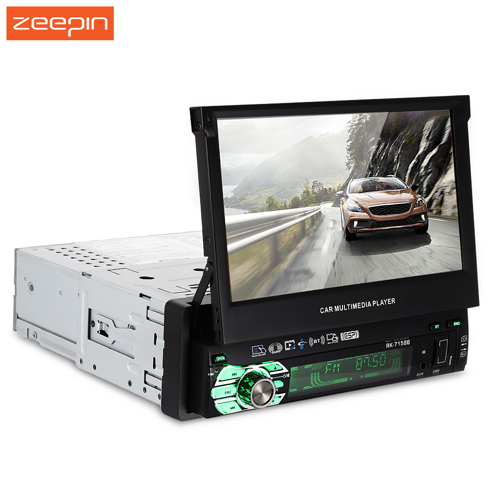Universal 7158G 7 inch Bluetooth V2.0 Touch Screen Car Multimedia Player GPS FM Radio Rear Viewing Remote Control Car DVD Player