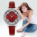 Женщины часы 2016 VILAM овальный Кварцевые Часы Цветы Кристалл Алмаза кварцевые наручные часы ремешки подарочной коробке Дизайнер Часы V1013L