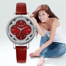 women watches 2016 VILAM oval Quartz-Watch Flowers Diamond Crystal quartz wristwatches watchbands gift box Designer Watch V1013L