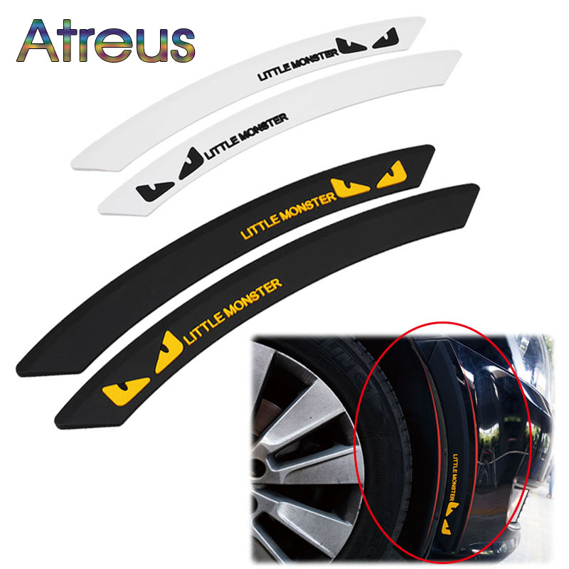 Atreus 2pcs Car Wheel Eyebrow Anti-collision Strip Decoration for Nissan Qashqai Opel Astra Kia Ceed Sorento Skoda Octavia A5 A7 car usb sd aux adapter digital music changer mp3 converter for skoda octavia 2007 2011 fits select oem radios