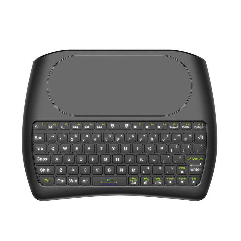 2.4Ghz Mini Wireless Keyboard Full Screen Mouse Touchpad Handheld Remote Control With Colorful Led Backlight For Android Tv Bo