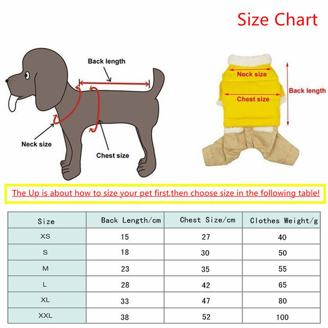 Cotton Warm Clothes Chihuahua Puppy Jacket