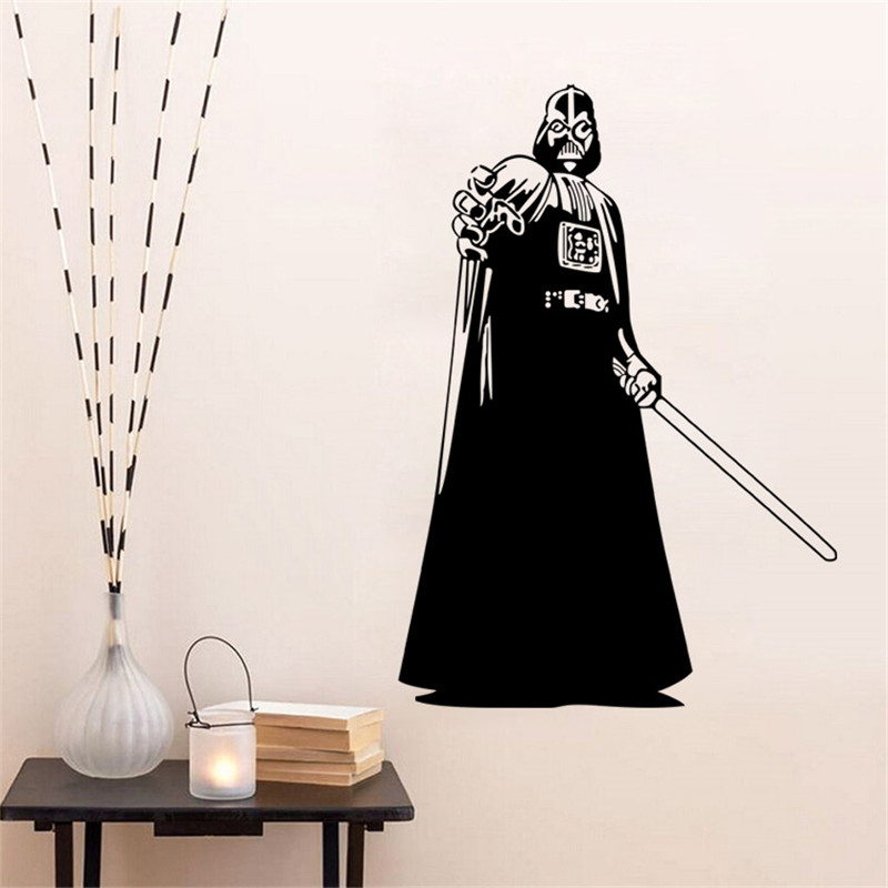 buy star wars charature poster wall stickers decals wall art for kids room 8556. Black Bedroom Furniture Sets. Home Design Ideas