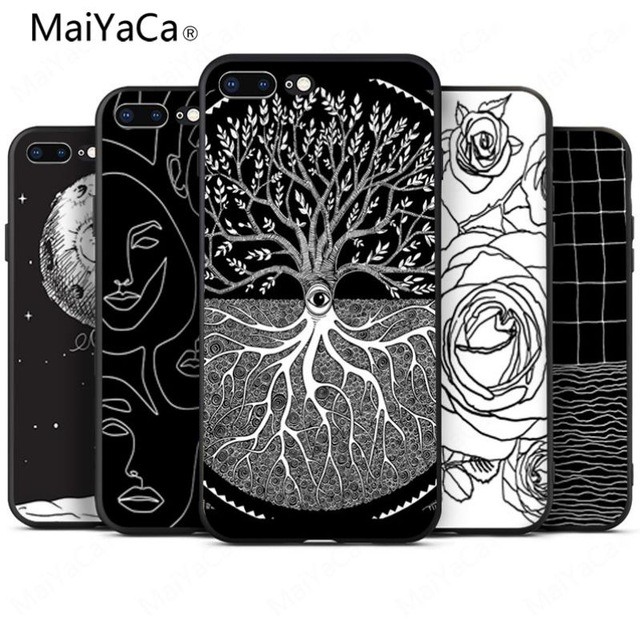 Cellphones & Telecommunications Maiyaca Tree Of Life Black Novelty Fundas For Iphone 4 5c 5s 6s 7 8 Plus X Xr Xs Max Black Soft Shell Phone Case Rubber Silicone Limpid In Sight