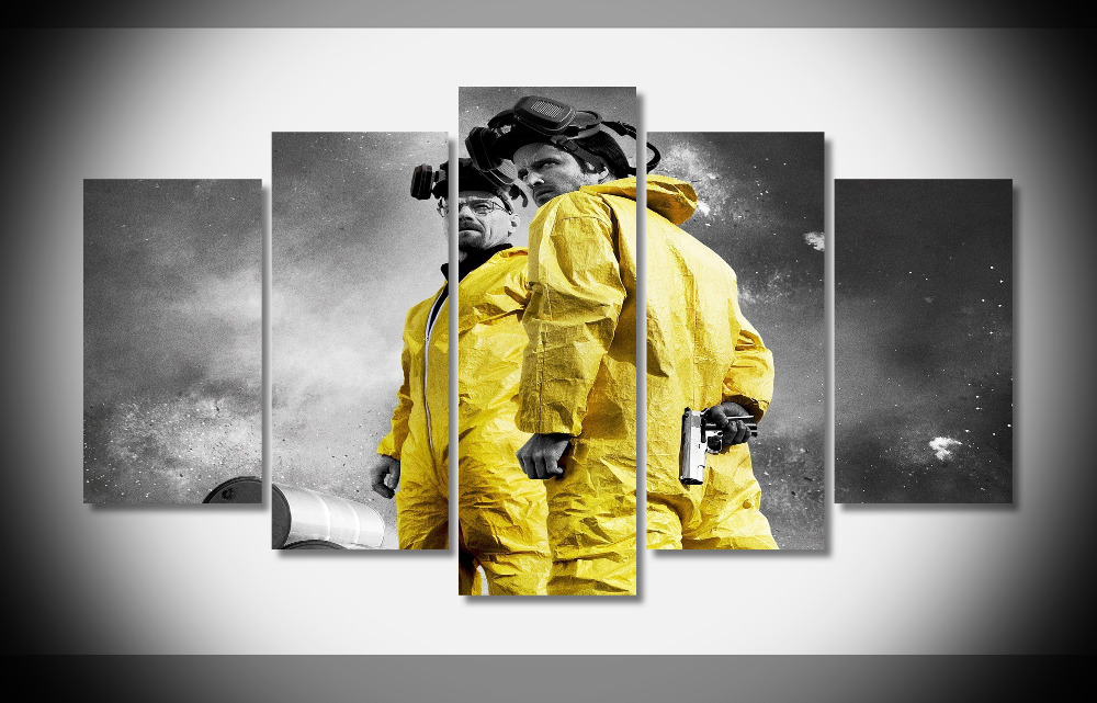 6555 Breaking Bad Movie Poster Framed Gallery wrap art print home wall decor wall picture Already to hang digital print