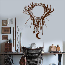 Wall Sticker Ethnic Decor Vinyl Art Removeable Room Dcoration Bedroom Livingroom Mural Beautiful Dreamcatcher Poster LY601