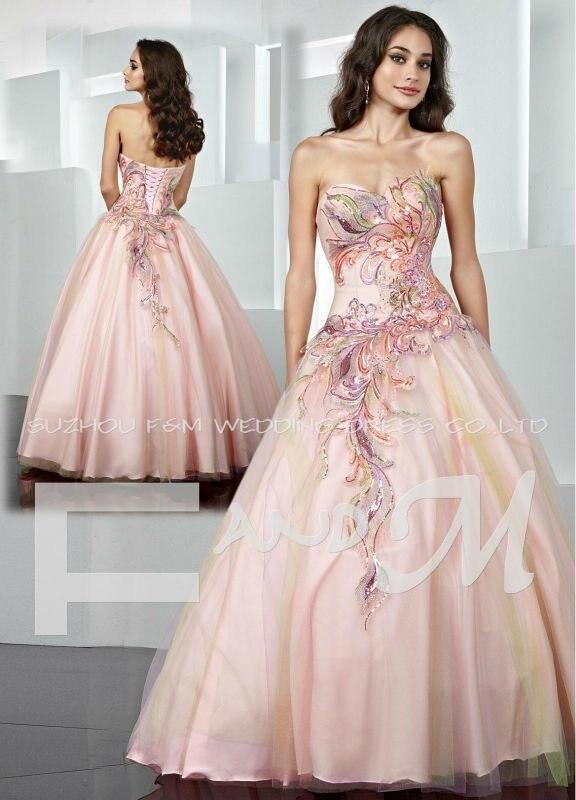 Light Pink Ball Gowns
