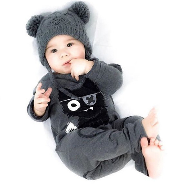 11eaed0d3f421 US $6.99 25% OFF|New style baby boy clothes sets long sleeved cartoon baby  rompers baby girl clothing set newborn clothes infant toddler outfits-in ...