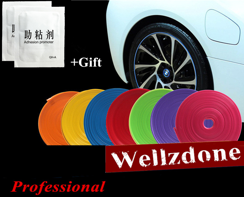 10 Color 8M/ Roll 2017 New Styling IPA Rimblades Car Vehicle Color Wheel Rims Protector Tire Guard Line Rubber Moulding Trim купить недорого в Москве
