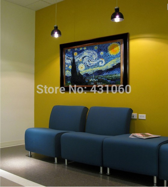Aliexpress com Buy High quality Vincent Van Gogh painting home decoration  Bedroom oil on canvas Landscape. Starry Night Bedroom