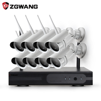 ZGWANG 8CH CCTV System Wireless 1080P NVR With 8PCS Outdoor Rainproof P2P Wifi IP CCTV Security