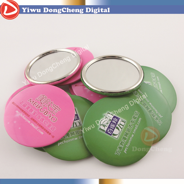 [factory direct sale] 300stes3( 75mm) DIY Mirror badge button supply materials Metal mirror ring  DCJZ-75