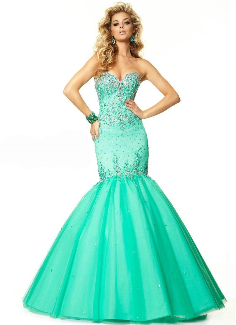 Teal Prom Dressesl Purple Satin Tulle Prom Dress Long Mermaid Corset ...