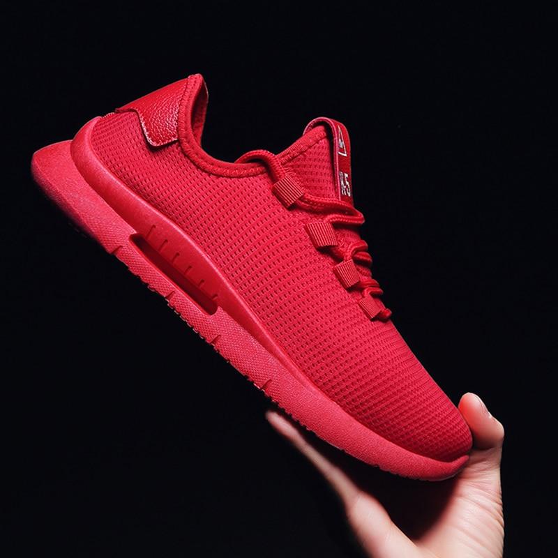 Transpirable Casuales Clásico Masculino Sapato Black De Tenis Adulto Lujo Para Hombre Primavera Verano Calzado Zapatos red white Marca Kresovki PwIOY