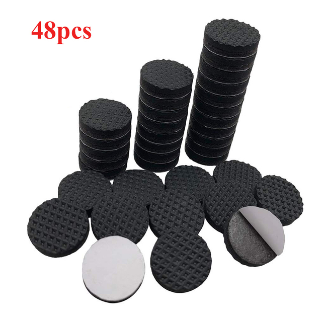 8/16/24pcs/lot Chair Leg Pads Floor Protectors for Furniture Legs Table leg Covers Round Bottom Anti Slip Floor Pads Rubber Feet 2