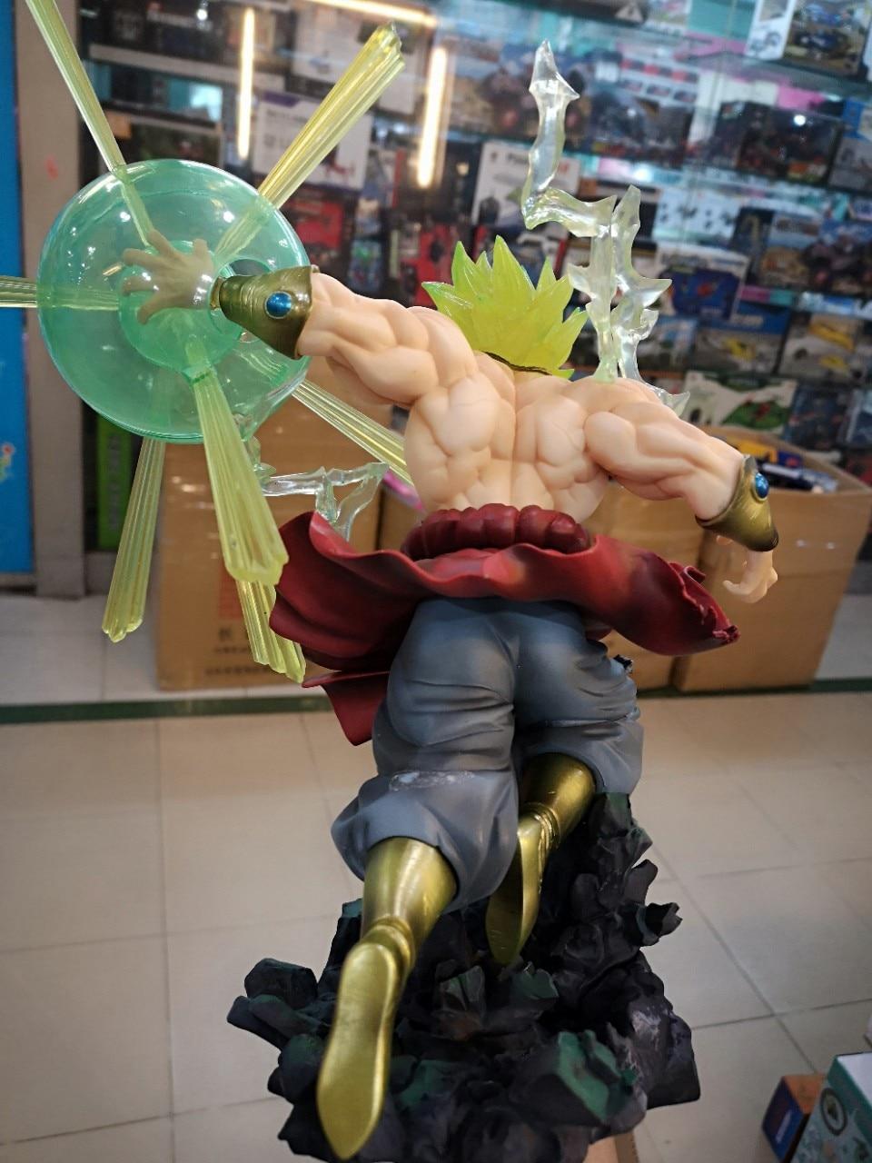 Новые горячие Dragon Ball Z фигурка F. ZERO Супер Saiyan Broli фигурку Broly ПВХ 32 см - 3