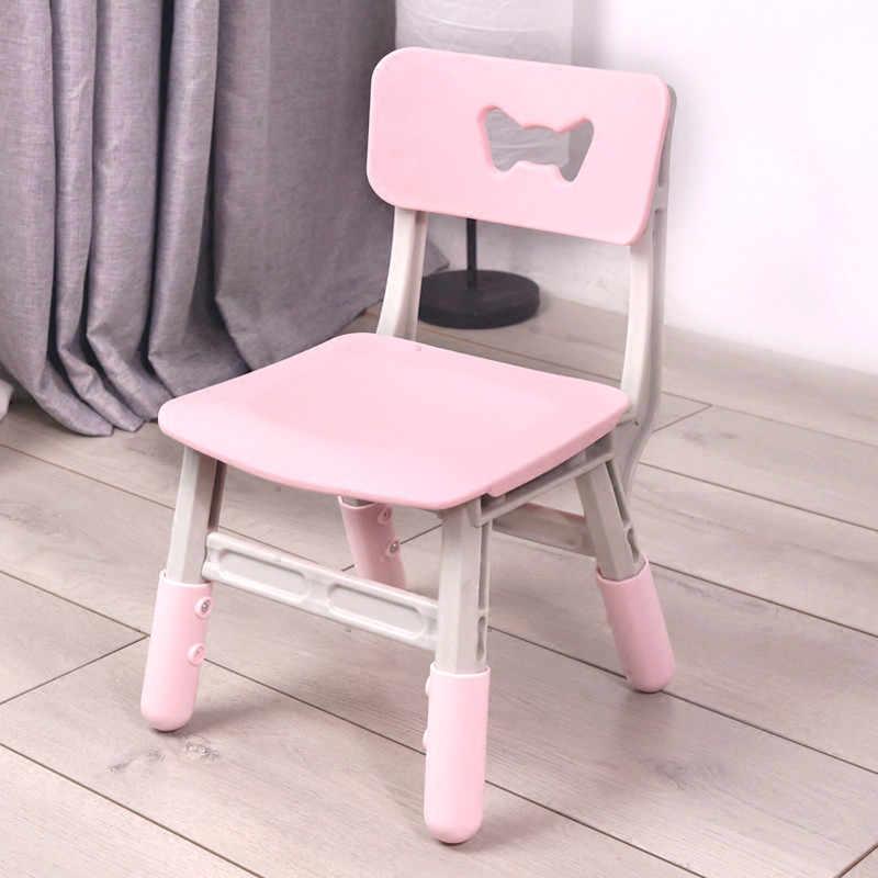 Cadeiras para crianças do jardim de infância cadeira encosto cadeira de bebé de plástico multi-funcional fezes elevador crianças casa material grosso não-slip
