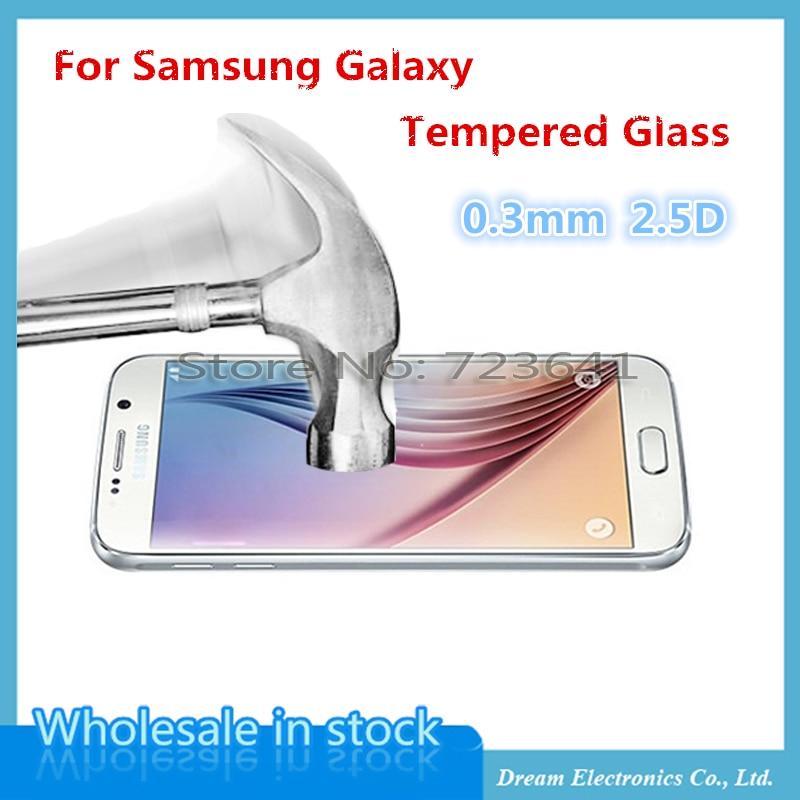 bilder für 20 teile/los 0,3mm 2.5D Displayschutz Gehärtetem Glas Film Für Samsung Galaxy J1 J3 J5 J7 klare folie Schutzfolie abdeckung Glas