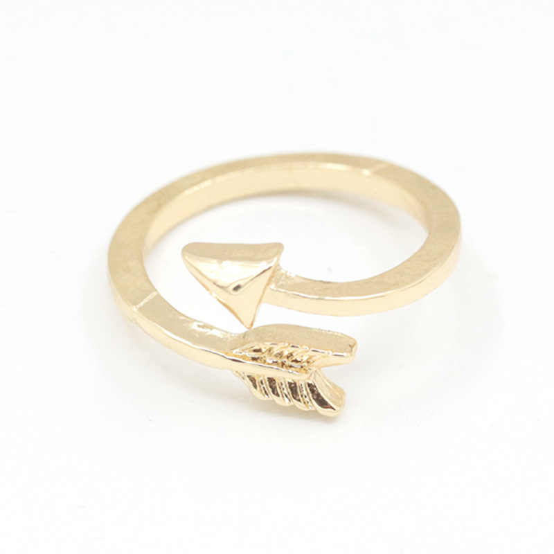 Adjustable Rings For Female Arrow Openings Simple Cross Rings Rose Gold Color Ring Classic Christmas Gifts For Man Or Woman Ring