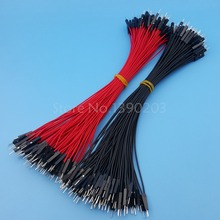 200Pcs Male To Male Red Black 26AWG 20CM Dupont Wire Cable Connector