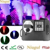 1500 Вт туман дымка машина с 24x3 Вт 3IN1 светодиодный свет/DMX512 Беспроводной Управление дым машина/ этап светодиодный туман машина/1500 Вт Fogger