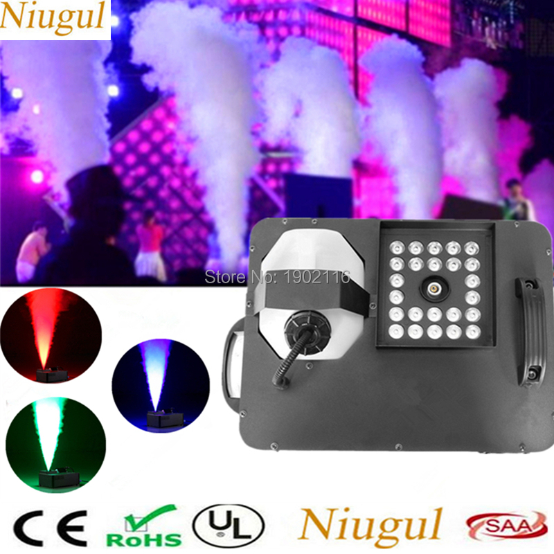1500W Mist Haze Machine with 24x3W 3IN1 LED Lights/DMX512 Wireless control Smoke Machine /Stage Led Fog Machine /1500W Fogger